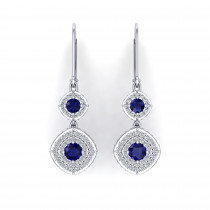 Monte Carlo Sapphire Halo Earrings