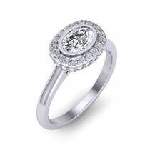 Monaco East-West Oval Ring
