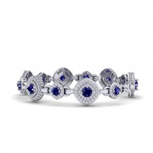 Monte Carlo Sapphire Halo Bracelet
