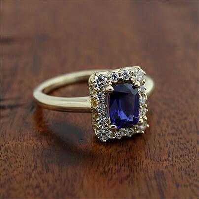 Something Blue Forever Artisans Custom Rings