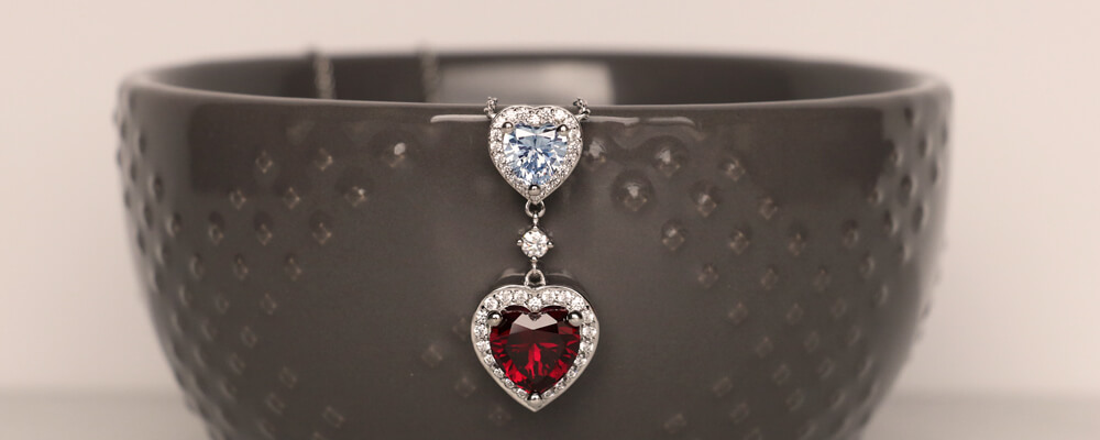 Two Hearts Halo Pendant