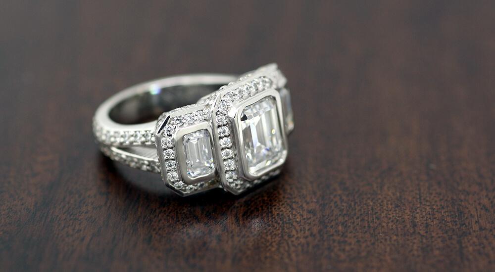 Custom Emerald Cut Rings: HEY