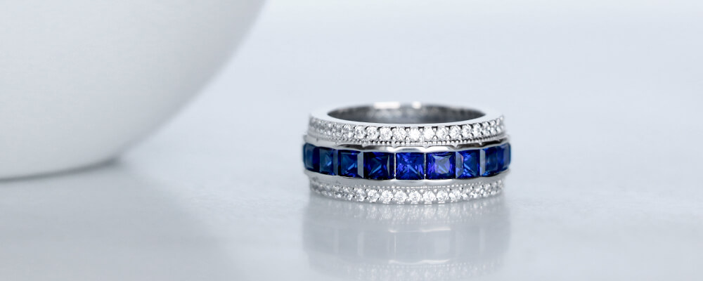 Sapphire in September: Bold Blue Band, Bold Sapphire Ring