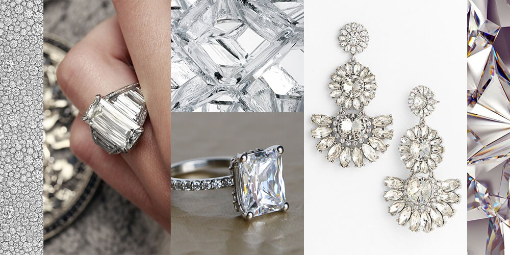 Inspiration Board: Go Glam with big stones, bling and statement pieces.