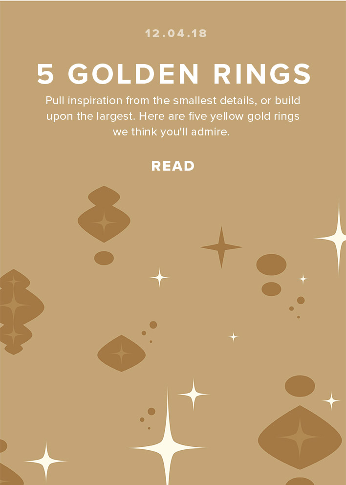 5 Golden Rings to Draw Inspiration From