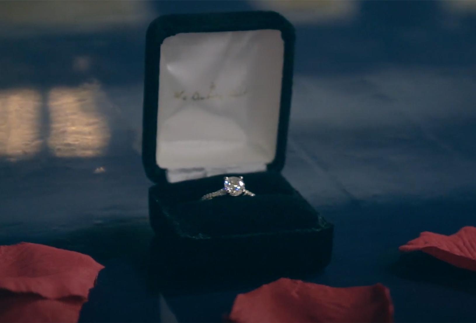 Stephanie's custom ring in its Forever Artisans box