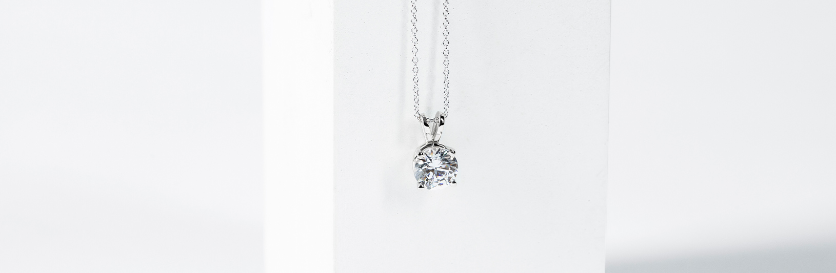 A simple white gold pendant necklace