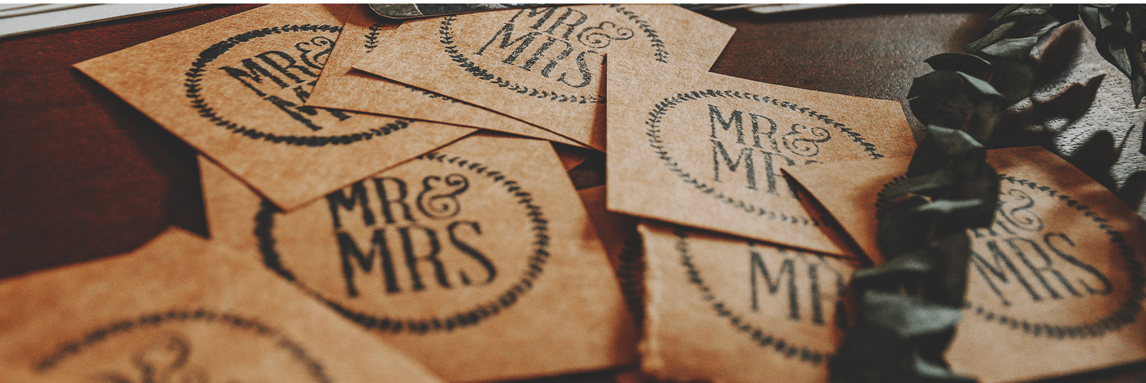 Image of recyclable wedding invitations