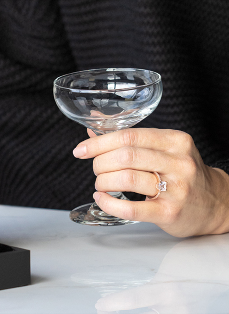 Some companies allow couples to rent out glassware for their big day